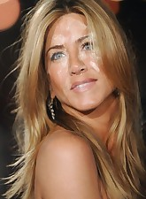 And here you can see how pretty Jennifer Aniston is when she has loads of cum all over her face