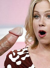 In the end everyone who is fucking Christina Applegate has to cum on her face!